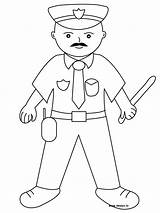 Police Coloring Pages Policeman Officer Printable Dog Badge Getcoloringpages Policemen sketch template