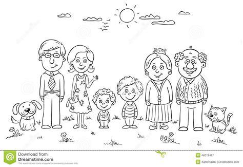 Big Happy Family Stock Vector Image: 46078487 Family