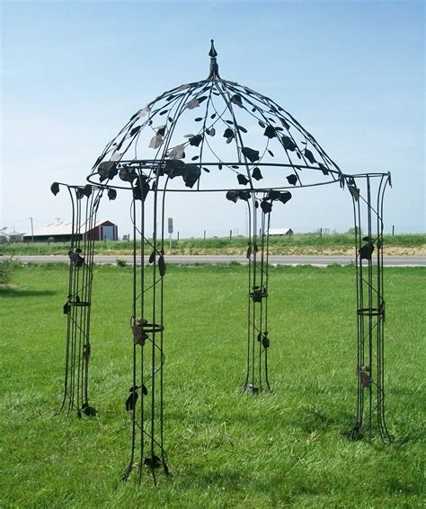 garden iron metal flower dome iron gazebo garden structure