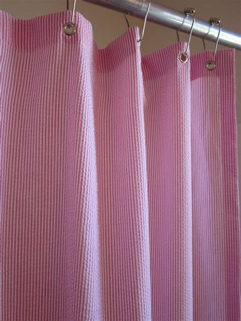 striped seersucker shower curtains for the home