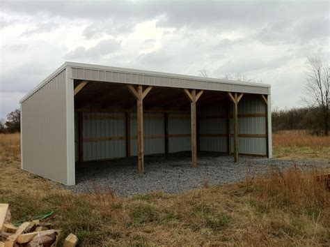 pole barn shed loafing plans building material barns diy 12x40 garage metal sheds popscreen homes