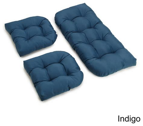 Settee Cushion Sets by U Shaped Twill Tufted Settee Cushion Set Set Of 3