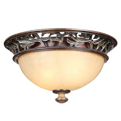 home depot flush mount ceiling light fixtures hton bay 2 light caffe patina flush mount ceiling