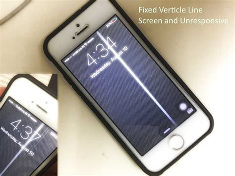 fix iphone screen lines vertical  unresponsive iphone