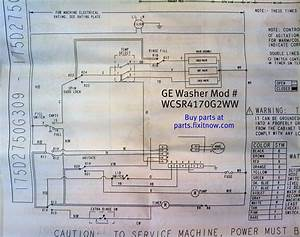 Ge Washer Model Wjrr4170g1ww Parts Diagram