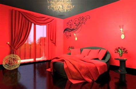 Red Bedrooms :  42 Romantic Beds Photos