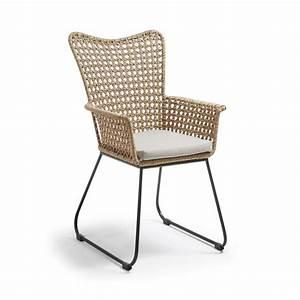Chaise Rotin Metal : fauteuil d 39 ext rieur en rotin et m tal sanders drawer ~ Teatrodelosmanantiales.com Idées de Décoration