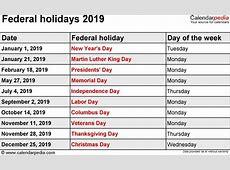 2019 Calendar With Holidays 2018 calendar printable