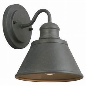 Hampton Bay 1 Light Zinc Outdoor Wall Lantern HSP1691A