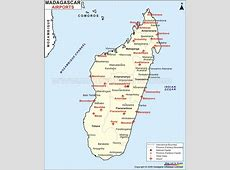 Airports in Madagascar Madagascar Airports Map