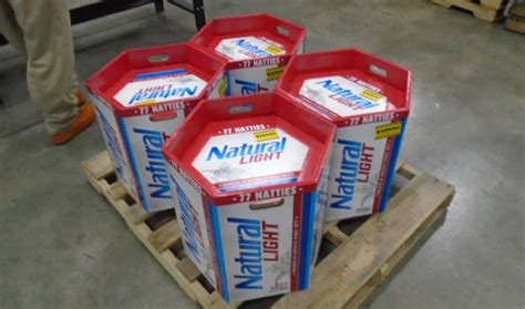 natty light  unveiled    beer pack  weighs