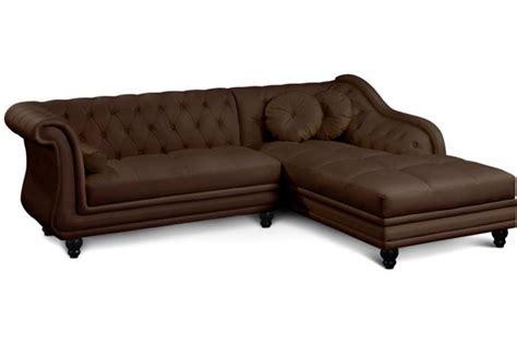 h et h canapé canapé d 39 angle marron style chesterfield design