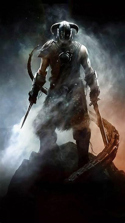 Skyrim Iphone Elder Scrolls Wallpapers Dovahkiin Dragon