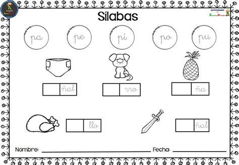 Colección De Fichas Para Trabajar Las Sílabas (13