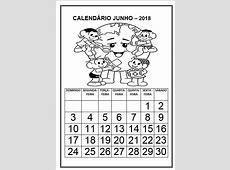 calendario junho Atividades Pedagógicas Online