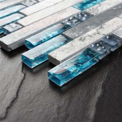 sea glass tile gray marble backsplash tiles teal blue glass mosaic wall tile