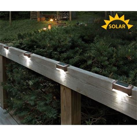 solar led deck lights set of 4