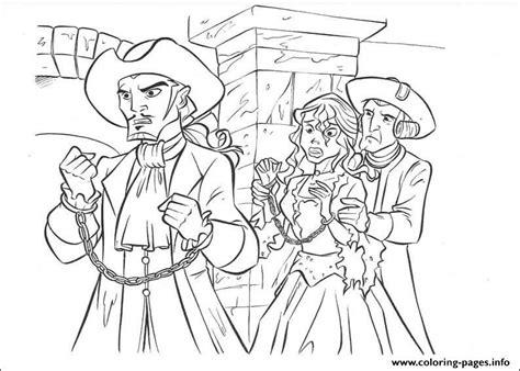 Princess has captured pirates of the caribbean coloring