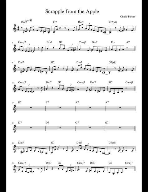 scrapple   apple  cmajor sheet   piano