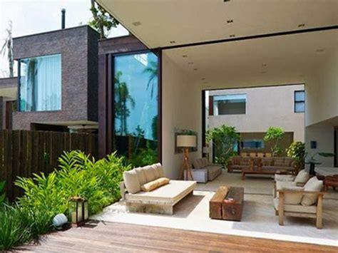 dekorasi teras  belakang rumah minimalis nyaman
