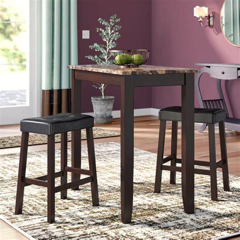 andover mills daisy  piece counter height pub table set reviews wayfair