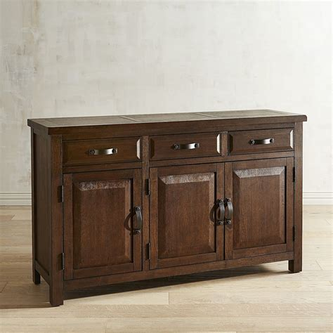 buffet kitchen furniture dawson walnut brown buffet table cabinets storage