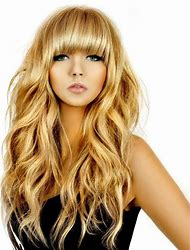 Beach Wave Hairstyles with Bangs