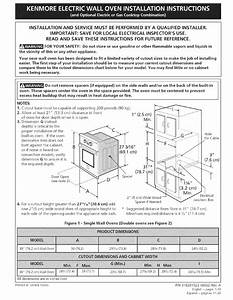 Kenmore Electric Wall Oven Installation Instructions