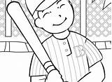 Baseball Coloring Diamond Printable Pages Player Getcolorings Pa sketch template