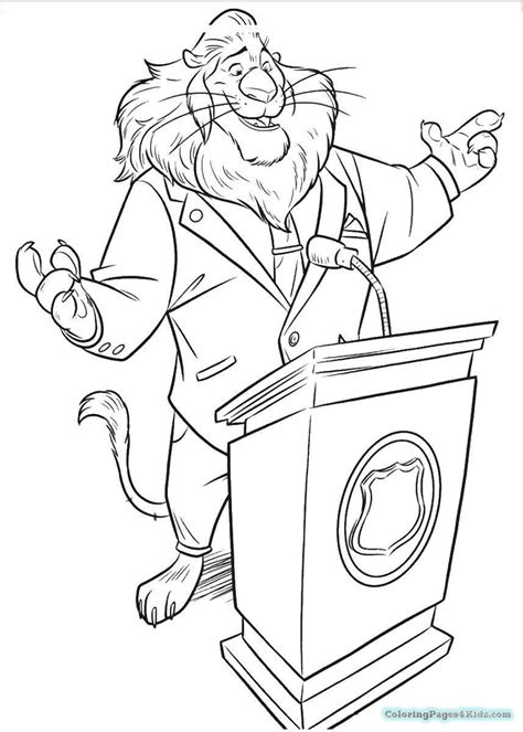 Coloring Zootopia by Zootopia Coloring Pages Coloring Pages For