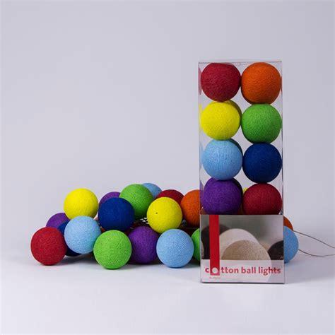 cotton balls lichterkette lichterkette cotton lights connox