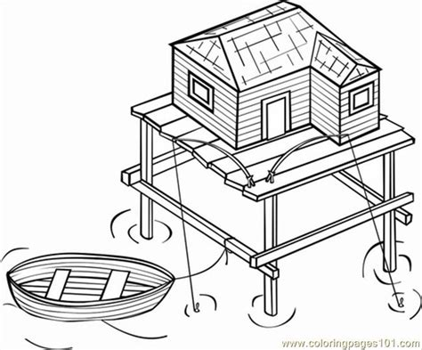 Kleurplaat Avalugg by Ges Photo Stilt House Dm16117 Coloring Page Free Houses