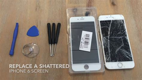 How To Replace A Shattered Screen On Iphone 6/6s/7 Iphone 6 Plus X 6s 4s Gold Zur�cksetzen Just Shows Apple Logo Vs Se All Details White Colour Firmware