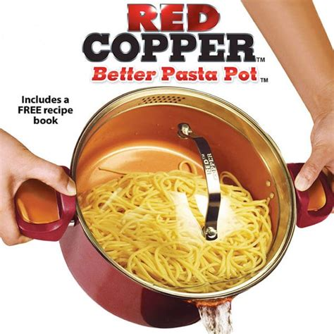 red copper  pasta pot    tv gifts