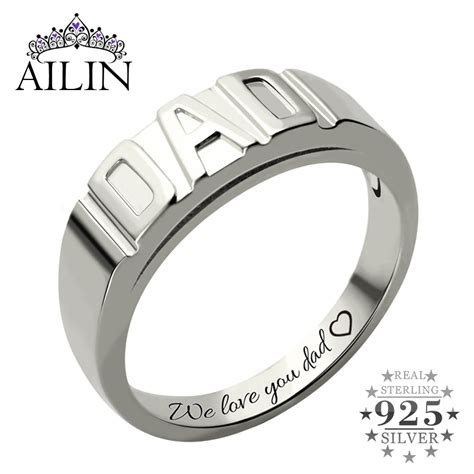 Sterling Silver Personalized Men's Dad Ring Handmade. Alliance Wedding Rings. Rainbow Wedding Rings. Jarkan Engagement Rings. Cross Rings. Iced Out Rings. Pair Rings. One Tree Hill Brooke Wedding Rings. Ryerson Rings