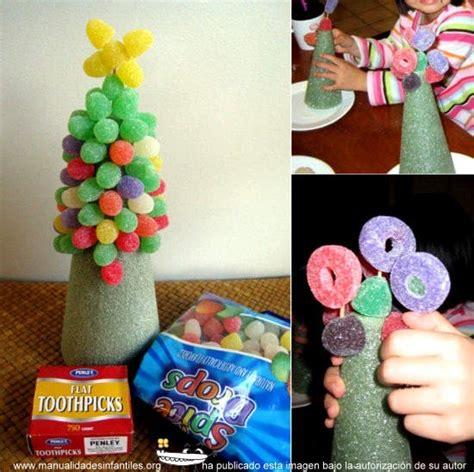 193 rbol de navidad con chuches manualidades infantiles
