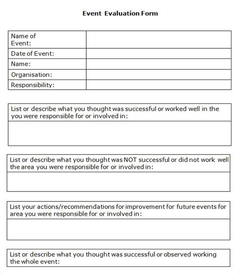 Conference Survey Template by 10 Event Evaluation Sles Sle Templates