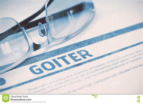 Medical Illustration Of Goiter Cartoon Vector