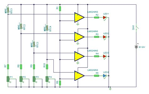 Hot Water Level Indicator Circuit Diagram Instructions