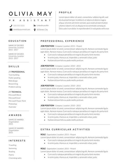 R D Resume Template by Resume Template Professional Resume Cv Template
