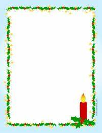 christmas letterhead clipart 75 With christmas border letter size paper