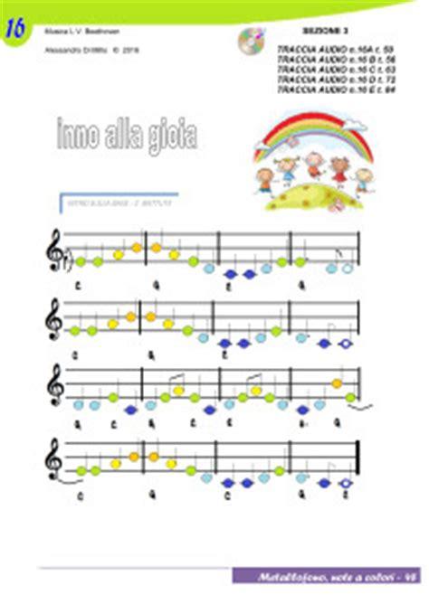 notazione  bambini suoniamo linno alla gioia