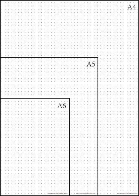 printable dot grid paper  bullet journal bullet