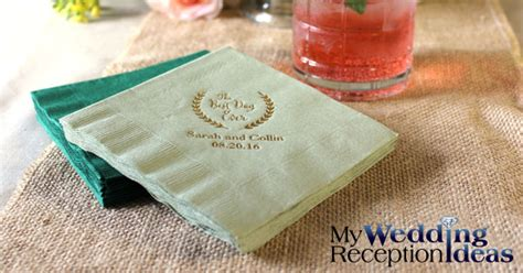 Personalized Wedding Napkins  My Wedding Reception Ideas