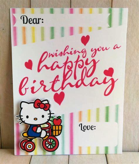jual kartu ucapan selamat ulang   kitty   lapak joyful joey surabaya joyfuljoey