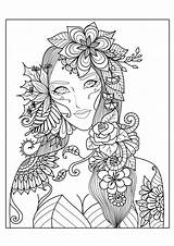 Coloring Print Pages Adults Complex sketch template