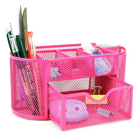 desk pencil organizer desk organizer 9 compartments metal black mesh desktop