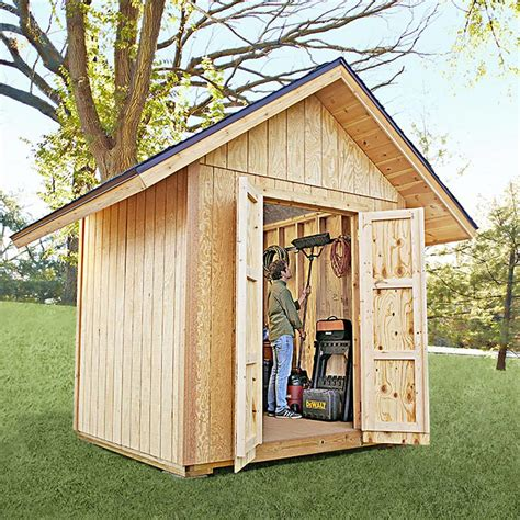 backyard shed plans backyard shed woodworking plan from wood magazine