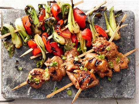hoisin chicken  bok choy kebabs recipe food network