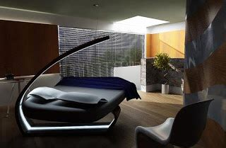 design  furniture futuristic bedroom design led